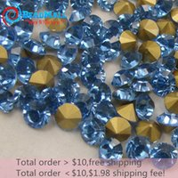 Wholesale Min order SS5 mm Pointback Rhinestone Lt sapphire Point Back Chaton crystal round fancy stone point back DIY