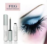 Wholesale Colorless FEG Eyelash Growth Serum Popular Natural Herbal Eyelash Growth Liquid Plastic Bottles ML Volume Hot Sale