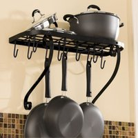 Wholesale Iron kitchen rack Kitchen rack Kitchen shelf Storage rack Hanging frame Finishing frame Wall shelf Wall hanging pot rack Pothook