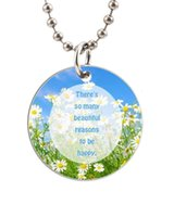 aluminum reason - There s So Many Beautiful Reasons To Be Happy Customized Colorful Design round Dog Tag Necklace Aluminum Tag for Animal Pets Tag