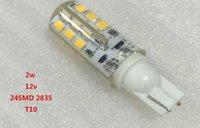 Wholesale T10 w w leds SMD LED light lamp AC DC V Warm white Cold White Red bulb Silicone Crystal led light bulb