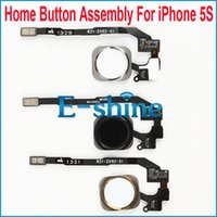 Wholesale Home Button Assembly For Apple iPhone S With Key Flex Cable Ribbon Replacement Parts OEM Brand New