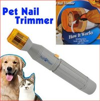 Wholesale File Tools Electric Grooming for Dog Pet Nail Grooming Care Grinder Trimmer Clipper Cat Dog Finger Sets