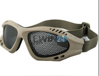 Wholesale Outdoor Protective Goggles Shooting Tactical Airsoft Hunting Anti Fog Metal Mesh Goggles New and Hot Selling