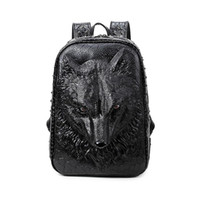 Wholesale 2016 D Creative d Wolf student backpack Backpack for men and women students personality trend free ship