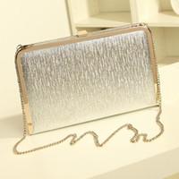 Wholesale Shimmering Silver Gold Diamante Evening bag Clutch Purse Party Wedding High Quality Women PU Leather Fashion Handbag Hot