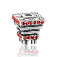 bead expo - authentic sterling silver Chinese hall of World Expo charm beads fit European charms bracelets pandora style jewelry No80 X365
