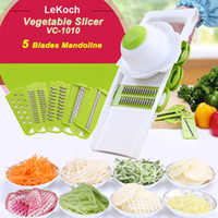 Wholesale Lekoch Multifunctional Mandoline Slicer with Interchangeable Stainless Steel Blades Vegetable Cutter Peeler Slicer Grater LS