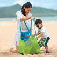 Wholesale Hot Selling Large sand away beach storage bag For child Sand Box Castle Toys Beach Balls
