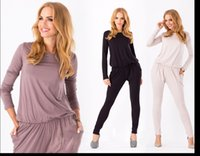 Wholesale Womens pants suits ladies fashion fitted slim stretch long sleeve pants ruffles jumpsuit Formal Prom Cocktail Evening trousers