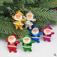 Wholesale Christmas Tree Santa Claus Father Small Pendants Christmas Decorations Ornament Colorful Xmas Festival Party Supplies red tiny Santa dolls