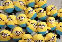 Wholesale Minion plush keychain Minions Keychains Despicable Me minions Plush pendant key ring Children Small christmas toys D1674