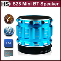 Wholesale S28 Mini Bluetooth Speaker With Audio TF Card Music Player Hands free With Mic HiFi Wireless Loudspeaker For Cell Phone Tablet iPhone iPad