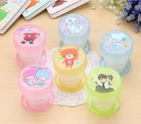 Wholesale Creative Foldable pLASTIC Cup for Travelling Mini Portable Cup for Drinking Plastic Drinking Cup