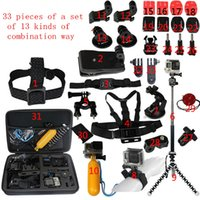 gopro accessories - Free DHL GoPro Accessories Outdoor Sports Bundle Kit for GoPro Hero Cameras and Other sports DV sj4000 sj5000