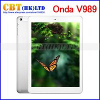 Cheap Onda v989 9.7 inch All winner A80T Octa Core Tablet PC Cortex A15 Air Retina 2048*1536 64 Core GPU 2GB 32GB Android 4.4 OS 8.0MP
