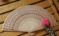 Wholesale 2015 New Wooden Hand Fans Portable Lady Wedding Handmade Folding Fans Cheap DHL Free Ship