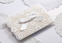 Wholesale Wedding Invitation Cards White Laser Lace Flora New Arrival WISHMADE Wedding Invitation Favors Free Printable Cards