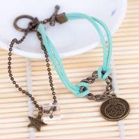 Wholesale 12pcs bigbang exo bts sj shinee vixx got7 bap vintage bracelet