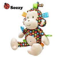 baby monkey high - Plush Baby Toy Sozzy Baby Rattle Toys Monkey Pull Bell Plush Toys Infant Appease Dolls High Quality