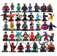 Wholesale Hot New Year Gift High Quality Mini Figure avenger super hero ironman batman Flash Building Blocks toys birthday gift free ship