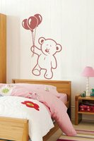 bear picture art - Baby Bear and Balloon home decoration wall art decals living room decoration wall pictures kids room wallpaper