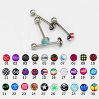 Wholesale 2015 Fashion Body Jewelry Tongue Piercings Industrial Piercings Tongue Rings Mix Styles Tongue Piercing Tongue Balls Women Men Jewelry