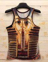 Wholesale 2015 Summer D Vest Tank Tops Stripe of Egypt men Vest Printing Style Vest Animal Skull Floral men T Shirt Unique Vest