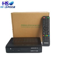 Wholesale 2pcs Best selling in Italy Zgemma Star H2 Enigma2 Combo DVB S2 T2 C Satellite Receiver with SAM A DVB T Tuner free ship