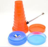 acrylic gift box - Pocket collapsible bong TRAVELLING PIPE acrylic bong flexible Water Pipe Rocket tobacco Bong
