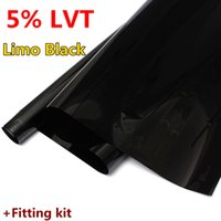 Wholesale 2015 Brand New Limo Black LVT Car Auto Home Window Glass Tint Film Tinting Styling mx76cm order lt no track