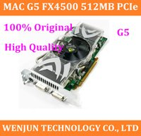 Wholesale 100 Original For Mac G5 FX PCIe Graphic Card High Quality MacG5 nVidia Quadro FX4500 MB PCI E Video Card order lt no track