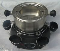 Wholesale 1300w Cheese stove pot fondue cheese pot cheese pancakes Continental double bottom stainless steel heating plate to send pot