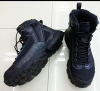 Wholesale New Genuine leather Tactical Boots Lightweight Military Desert Combat Boots Shoes Summer Breathable Boots