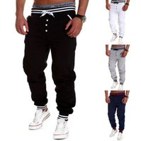 brand trousers - Latest Brand Men s Clothing Outdoor Sports Pants Slim Fit Solid Color Trousers Joggers Sweatpants colors