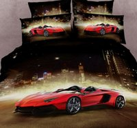 bedspread double cotton - 3D Race car bedding sets cars duvet cover queen size super king double bedspread bed in a bag fitted sheets quilt cotton