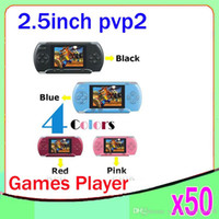 Wholesale DHL PVP2 Bit Colorful Game Console PVP2 Handheld Game Player for Children ZY PVP2