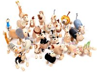Wholesale ANAMALZ Australia Moveable Wooden Toys Handmade Zoo Animals Maple Wooden Toys Baby Educational Wooden Toys