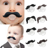 Wholesale Novelty Funny Mustache Baby Boy Girl Infant silicone Pacifier Orthodontic Dummy Beard Nipples