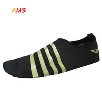 aerobic shoes - HOL SALL QuickDrying Aqua Water Shoes Barefoot Aerobic Vacance Socks Slip On Skin Soft Shoes Swimming lightweight water shoes