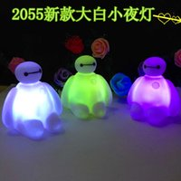 Wholesale 2015 Hot Cartoon Night Led Big Hero Baymax colorful changeable colors night light for children free ship