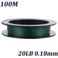 Cheap 5 Colors Fly Fishing Line Multifilament 100M Super Strong Braided Fishing Line 4 Strands Carp Fishing Lines 20LB 0.18mm