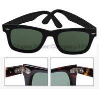 al por mayor mejores marcas de gafas de sol para los hombres-El mejor marco de la marca de fábrica de la bisagra del metal de la bisagra del metal de la calidad del envío libre lanza las lentes de Sunglass UV400 de la manera de las mujeres de los hombres 50m m con la caja de Brown