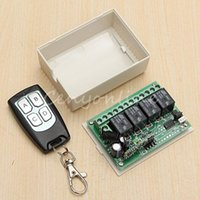 Wholesale New Arrival for DC V CH Small Channel Wireless Remote Control Radio Switch mhz Transmitter Receiver m High Sensitivity