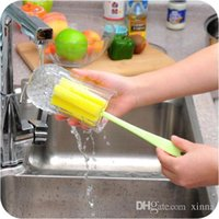 Wholesale Random Color Sponge Glass Bottle Cup Cleaner Kitchen Washing Brush Cleaning Tools Random Colors New