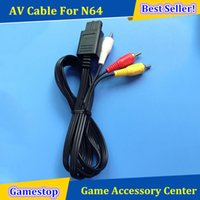Wholesale New Audio Video AV Composite Cable for Nintendo N64 DHL Shipping