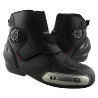 Wholesale 2015 RYO Motocross Boots Leather Botte Moto Off road Shoes Motorcycle Boots Men Black Botas Motocross Racing Motorcycle Shoes