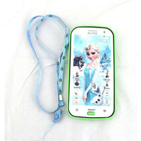 baby music mobile - Talking English Language Frozen phone Toys Theme music Brinquedos Mobile Baby Phone Toys for children Birthday party Gift