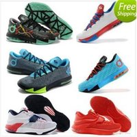 Cheap 2015 Kevin Durant Kd 6 Kd VI Mens Basketball Shoes Kd7 Shoes With Tick Free Shipping