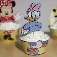 baking duck - Classic Donald Duck Wrappers Decorating Boxes Baking Cake Cups With Toppers Picks For Kids Xmas Birthday Party Supplies